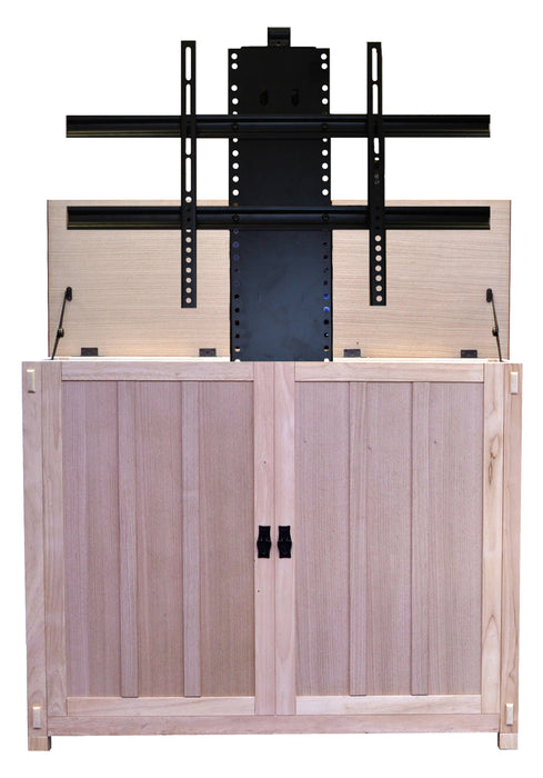 "Unfinished TV Lift Cabinet for 50"" Flatscreen TVs - Elevate by Touchstone - ambienthomeus"