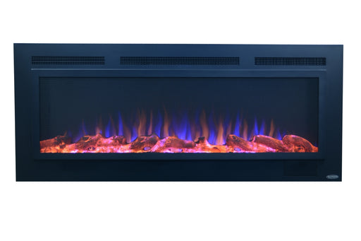 "Mounted Electric Fireplace - Sideline 50"" Steel by Touchstone - ambienthomeus"