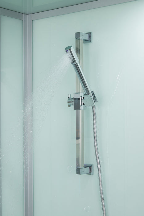 "Maya Bath Anzio White-Steam Shower w/ TV - 57"" x 37"" x 88"""