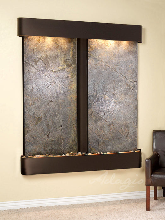 "Adagio Cottonwood Falls - Featherstone Panel Wall-Mounted Waterfall (61""W x 69""H)"