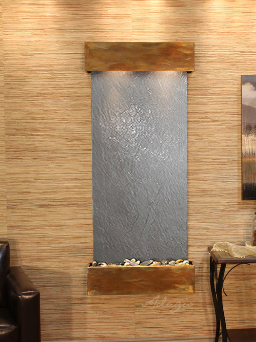 "Adagio Inspiration Falls - Featherstone Panel Wall-Mounted Waterfall (30""W x 69""H)"