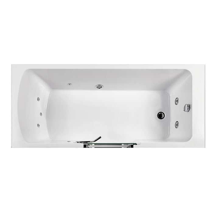 Ella's Bubble Laydown – Acrylic Walk In Bathtub with Glass Screen & Door (32″W x 72″L)