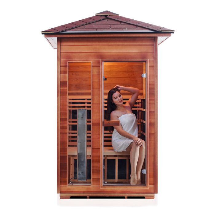 Enlighten RUSTIC - 2 Peak Full Spectrum Infrared Sauna