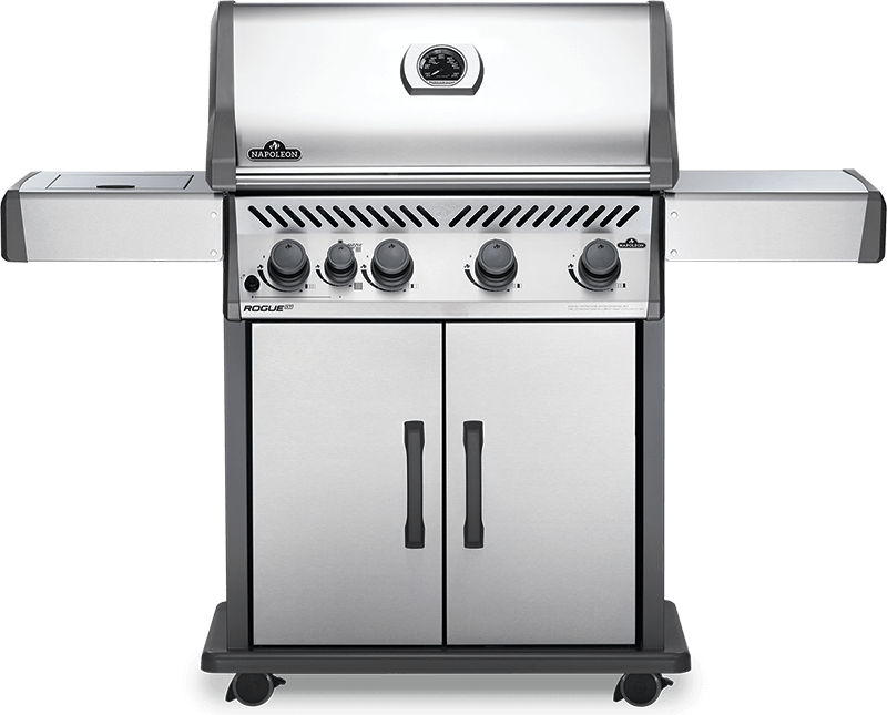 Napoleon Rogue XT 525 - Natural Gas / Propane Grill with Infrared Side Burner, Stainless Steel RXT525SIBNSS-1/PSS-1