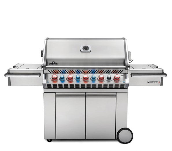 Napoleon Prestige PRO 665 - Natural Gas / Propane Grill with Infrared Rear and Side Burners, Stainless Steel PRO665RSIBNSS-3/PSS-3
