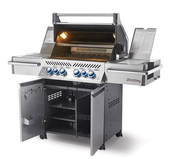 Napoleon Prestige PRO 500 - Natural Gas / Propane Grill with Infrared Rear and Side Burners, Stainless Steel PRO500RSIBNSS-3/PSS-3
