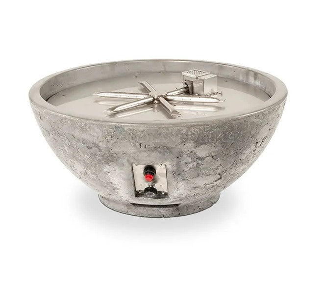 "Firegear Sanctuary 3 - Gas Fire Bowl, 29"" Diameter x 14""H- Slate"
