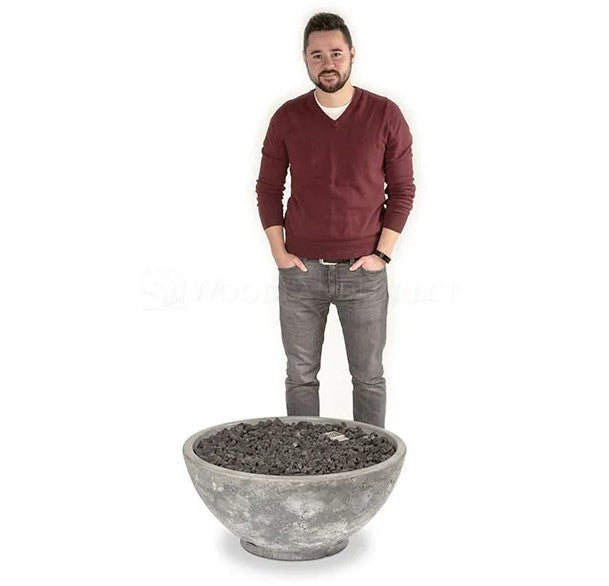"Firegear Sanctuary 3 - Gas Fire Bowl, 29"" Diameter x 14""H- Arctic"