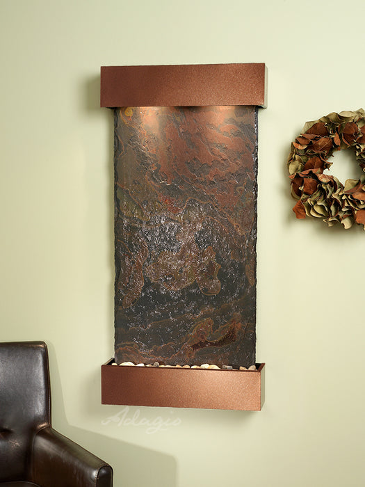 Water Wall with Natural Slate Panel - Whispering Creek by Adagio - ambienthomeus