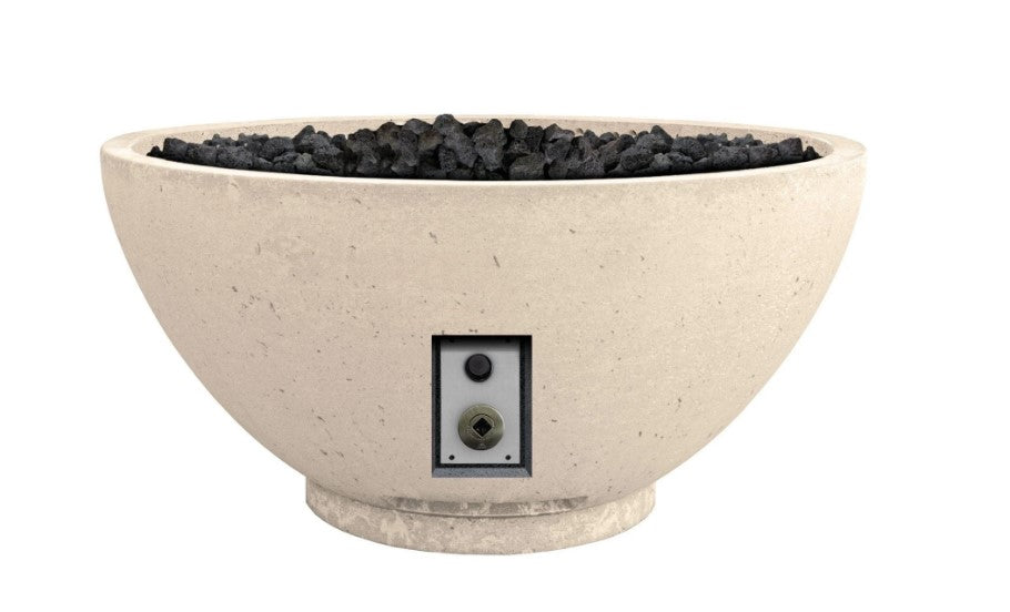 "Firegear Sanctuary 2 - Gas Fire Bowl, 39"" Diameter x 18""H- Cream"
