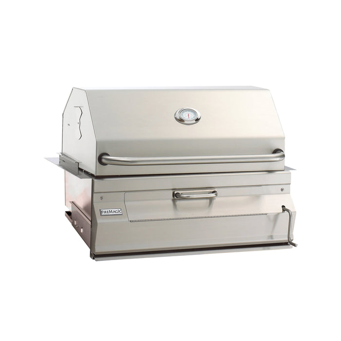 "Fire Magic Stainless Steel 24"" Built-In Charcoal Grill 12-SC01C-A"