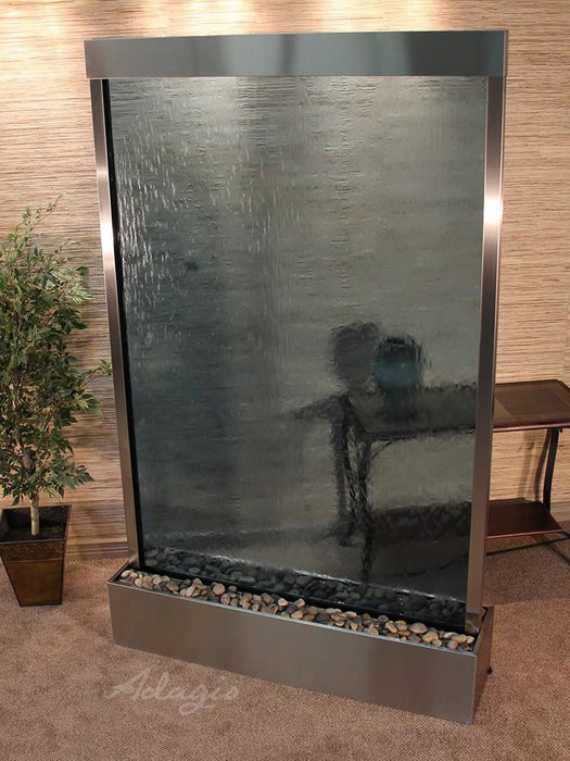"Adagio Grandeur River - Glass Panel Freestanding Waterfall (60""W x 96""H)"