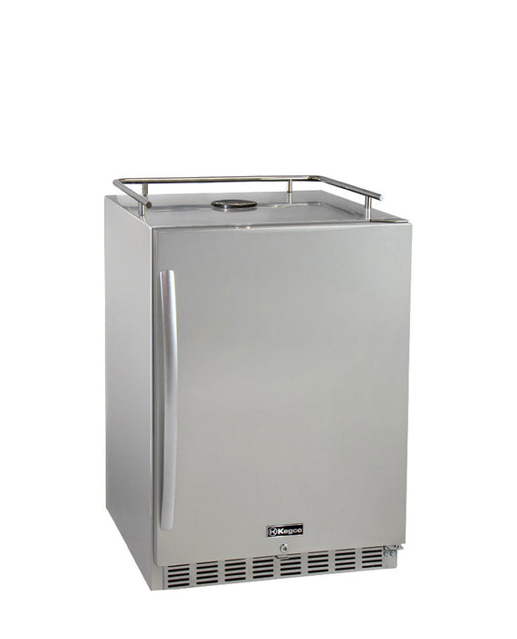 "Kegco 24"" Wide All Stainless Steel Commercial Built-In Kegerator - Cabinet Only"