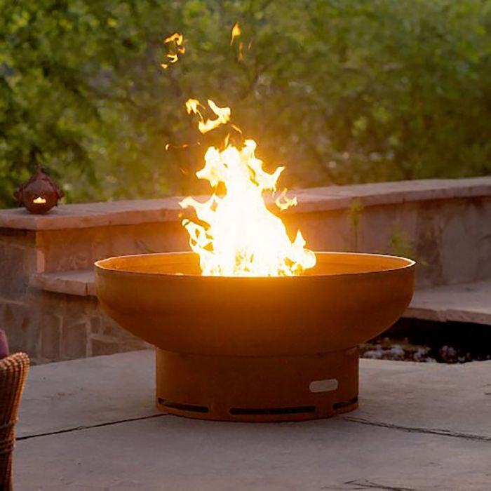 Fire Pit Art Low Boy - Gas and Wood Fire Pit