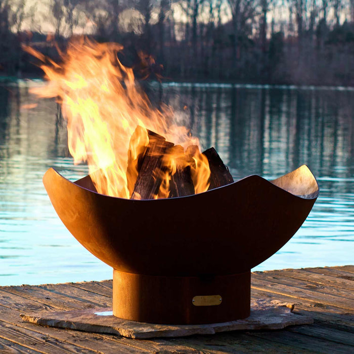 Fire Pit Art Manta Ray - Gas and Wood Fire Pit