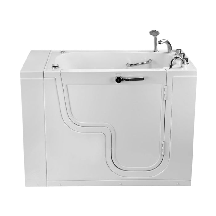 Ella's Bubble Transfer 26 – Outward Swing Door Wheelchair Accessible Acrylic Walk-In Bathtub with 2″ Dual Drain (26″W x 52″L)