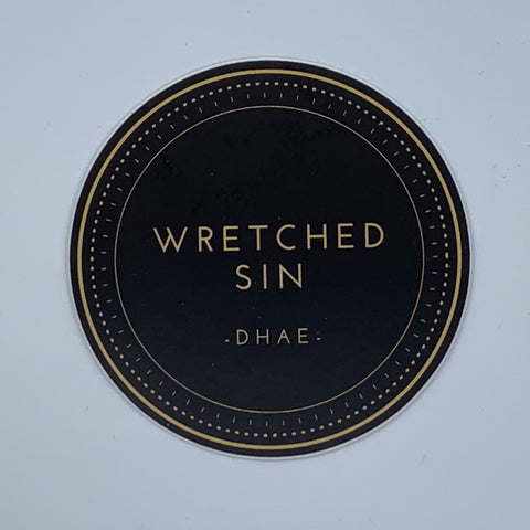 Wretched Sin Shield Sticker.