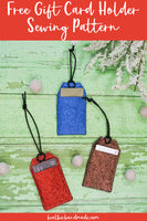 Tag Gift Card Holder - Pattern AND Instructions