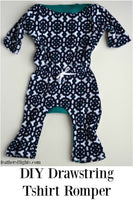 6 mos Baby T-Shirt Romper Pattern AND Tutorial