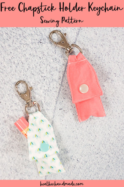 Free Chapstick Holder Keychain Pattern