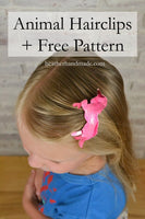 Animal Silhouette Hairclips + Free Pattern // heatherhandmade.com