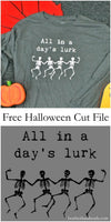 Free Skeleton Cut File // heatherhandmade.com