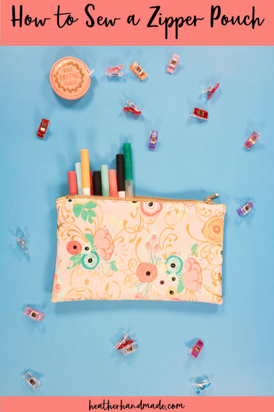 Zipper Pouch Pattern and Tutorial