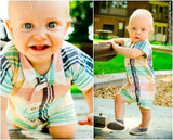 Button Down Shirt Romper Pattern - 6 mos
