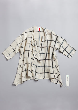 Load image into Gallery viewer, Intersection Lounge Shirt in Ecru + Anthracite