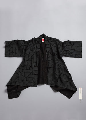 Load image into Gallery viewer, Puzzle Gusseted Haori in Anthracite