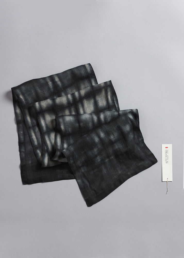 Abstract Squares Scarf in Anthracite