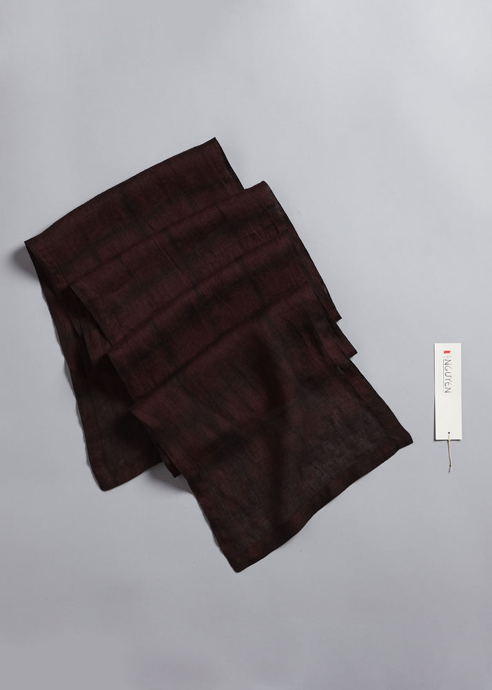 Abstract Square Scarf in Claret + Anthracite