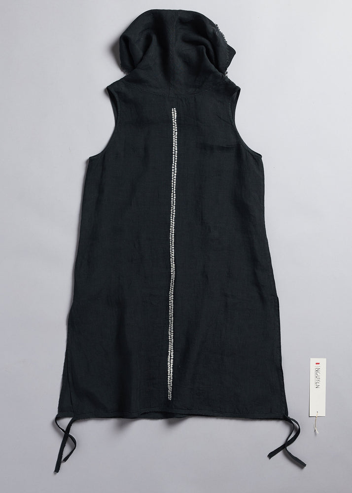 Load image into Gallery viewer, Double Nui Cowl Sleeveless Tunic in Anthracite