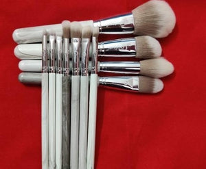 Creamy Marble Brush Set (11 piece collection with bag)