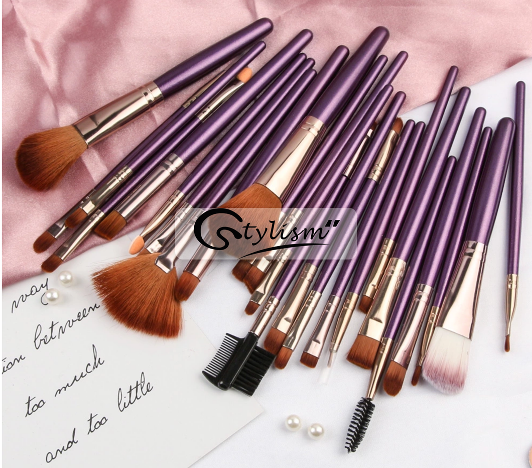 Mulberry Brush Set (25 piece Brush collection with bag)