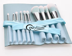 Celeste Blue Brush Set(12 piece Brush collection with bag)