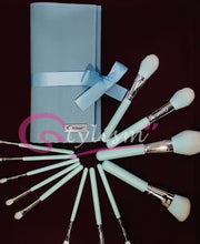 Load image into Gallery viewer, Celeste Blue Brush Set(12 piece Brush collection with bag)