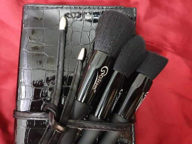 Stylism Signature Obsidian Black Brush Set(9 piece Brush collection with bag)