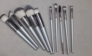 Golden Luxe Brush Set (10 piece Brush Set with bag)