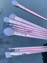 Load image into Gallery viewer, Rose Pink Brush Set (10 piece brush collection with bag)
