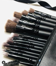 Load image into Gallery viewer, Black Jade Brush Set (14 piece brush collection with bag)