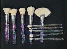 Load image into Gallery viewer, Glitz n Glam Brush Set (10 piece brush collection with bag)
