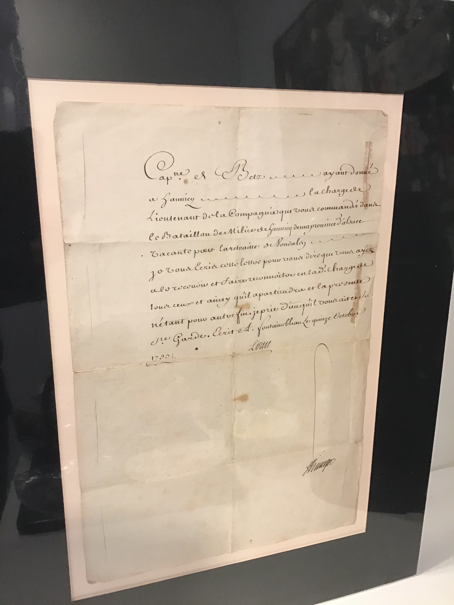 Military Document  King Louis XV 1733