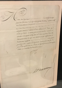 Military Document  King Louis XVI  1779