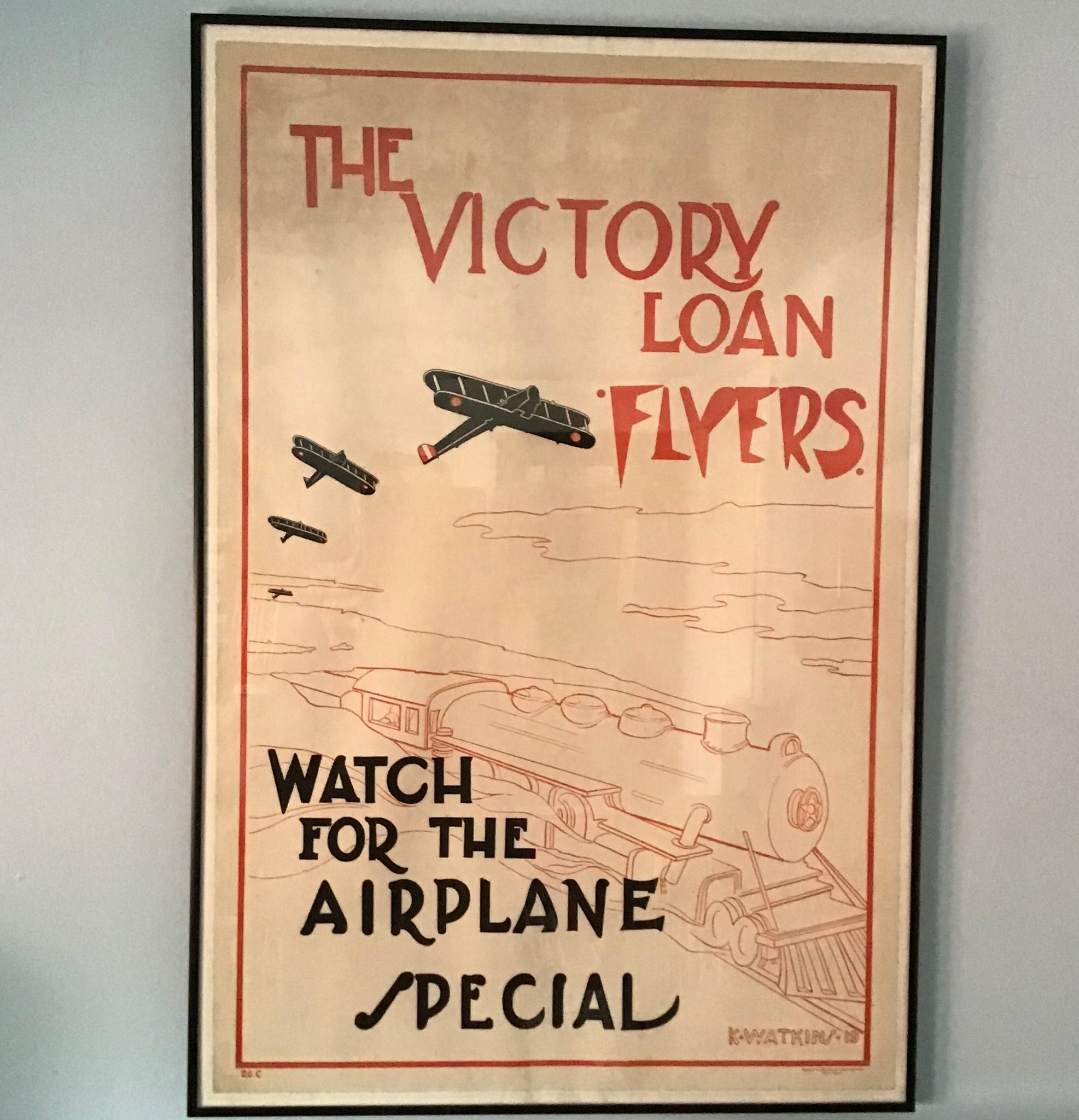 The Victory Loan Flyers  Promotional Poster WW1