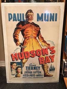 Hudson's Bay. Original Movie Poster (One-sheet on linen)