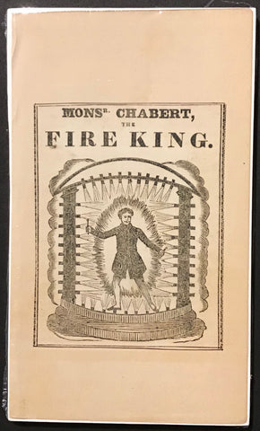 Monsieur Chabert - The Fire King  Engraving