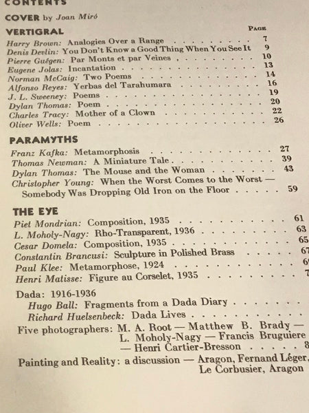 Transition: A Quarterly Review - Number Twenty-Five, Fall 1936