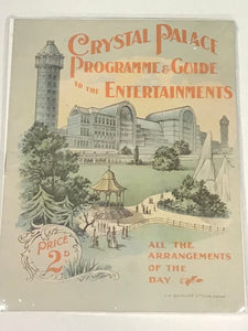 Crystal Palace Programme and Guide to the Entertainments