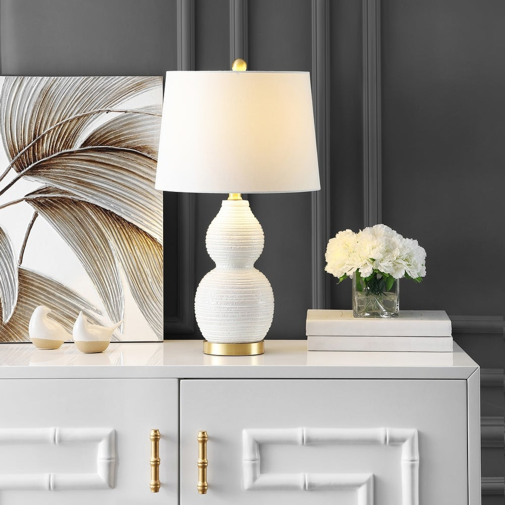 Darsa White LED Table Lamp
